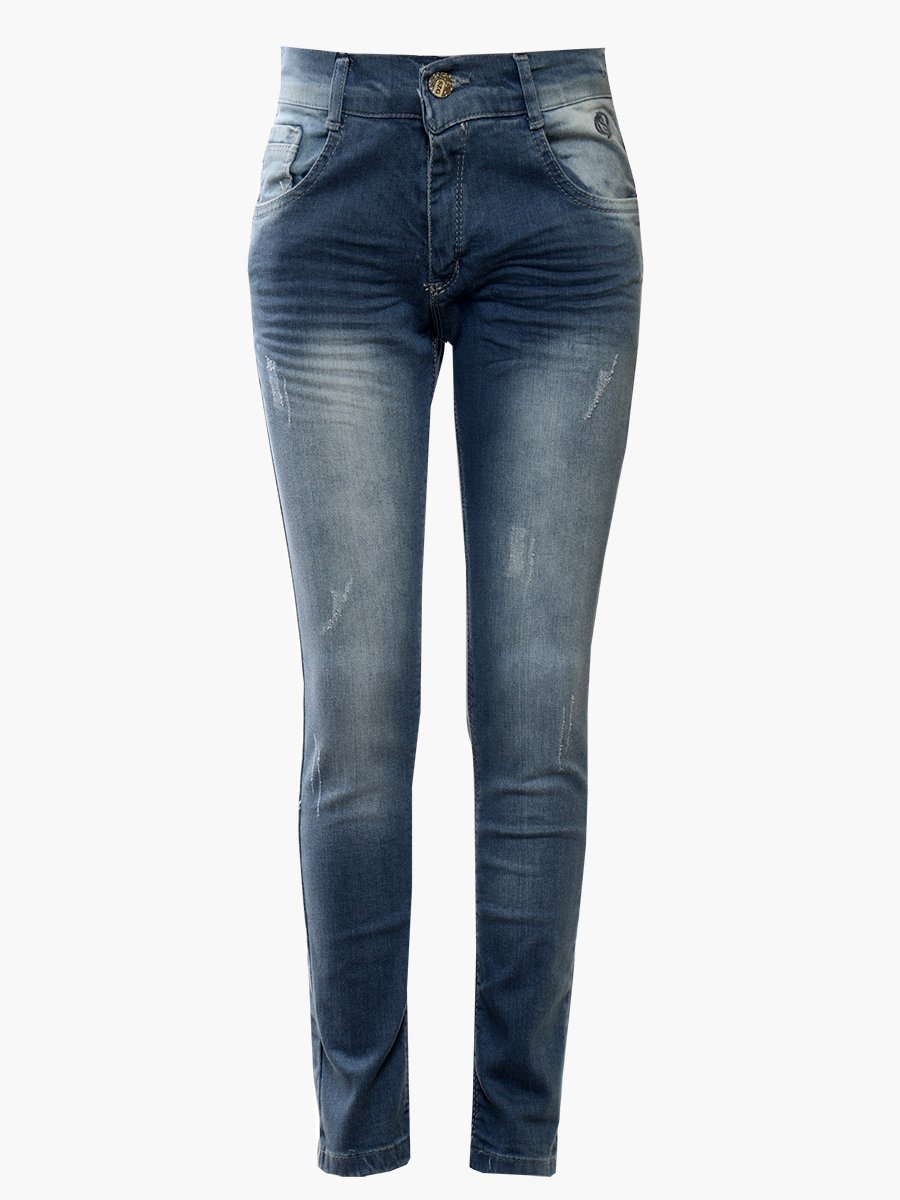 Брюки джинсовые для мальчика, цвет: голубой