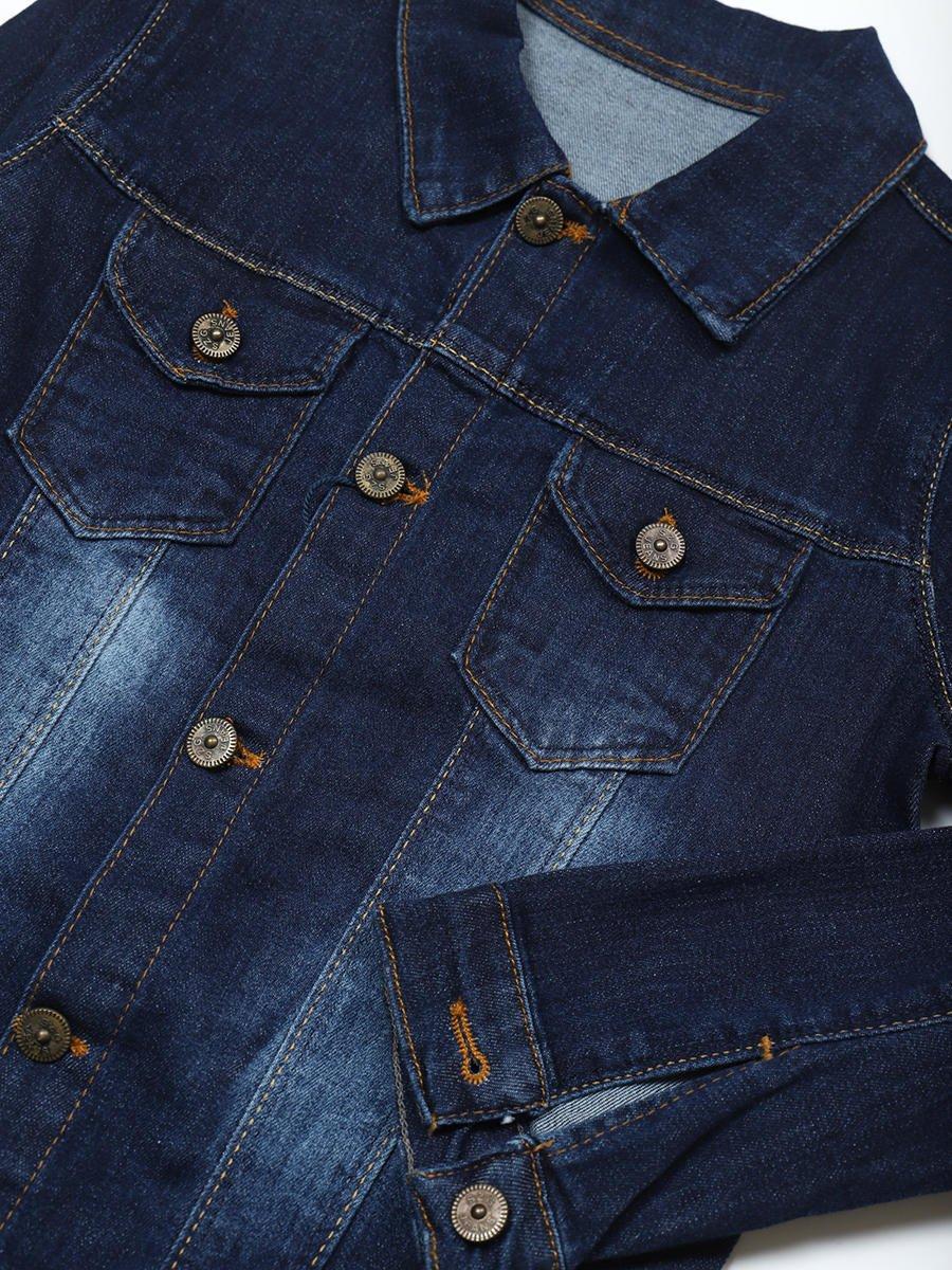 Куртка джинсовая для мальчика, цвет: деним