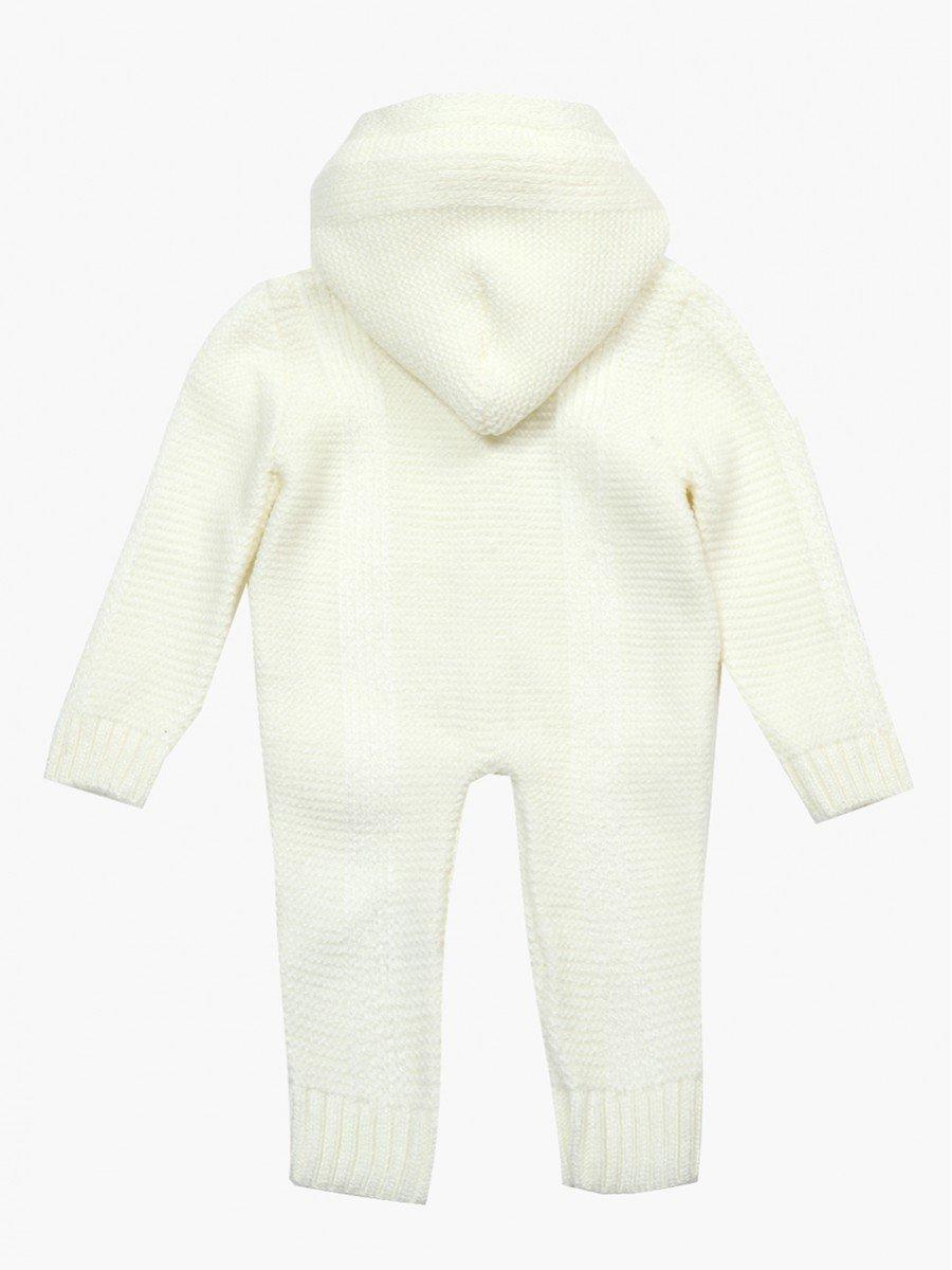 Комбинезон вязаный детский, цвет: молочный