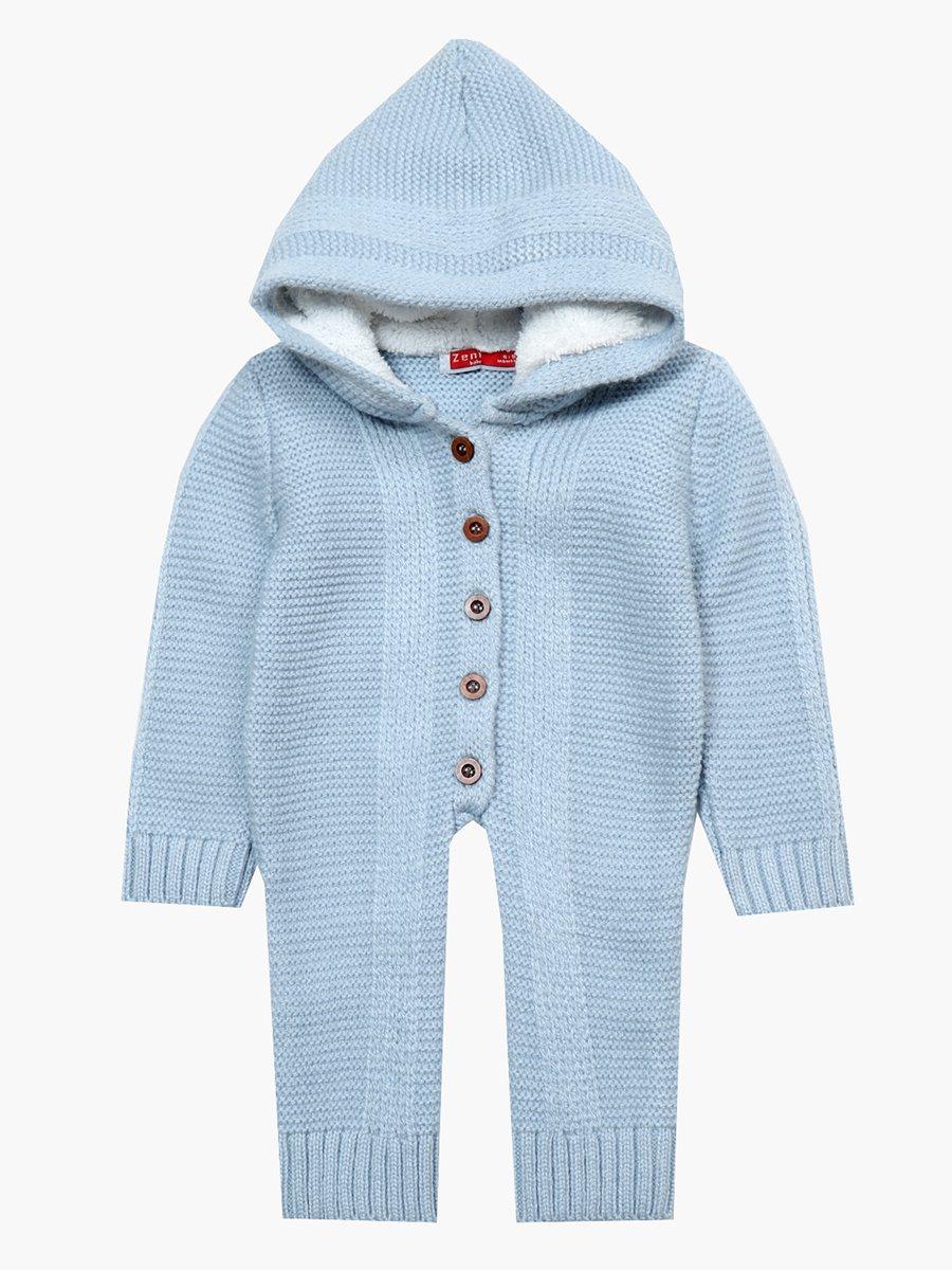 Комбинезон вязаный детский, цвет: голубой