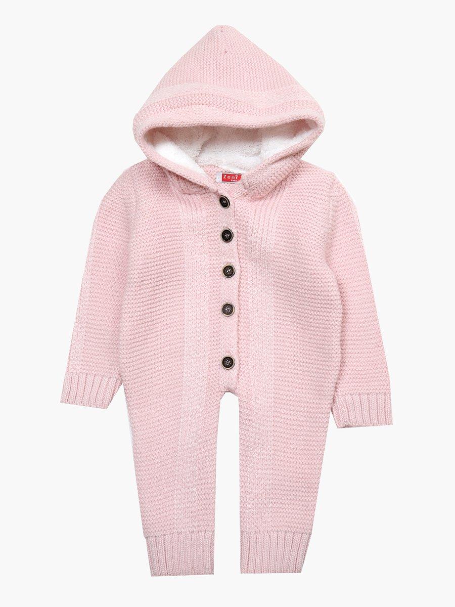 Комбинезон вязаный детский, цвет: светло-розовый
