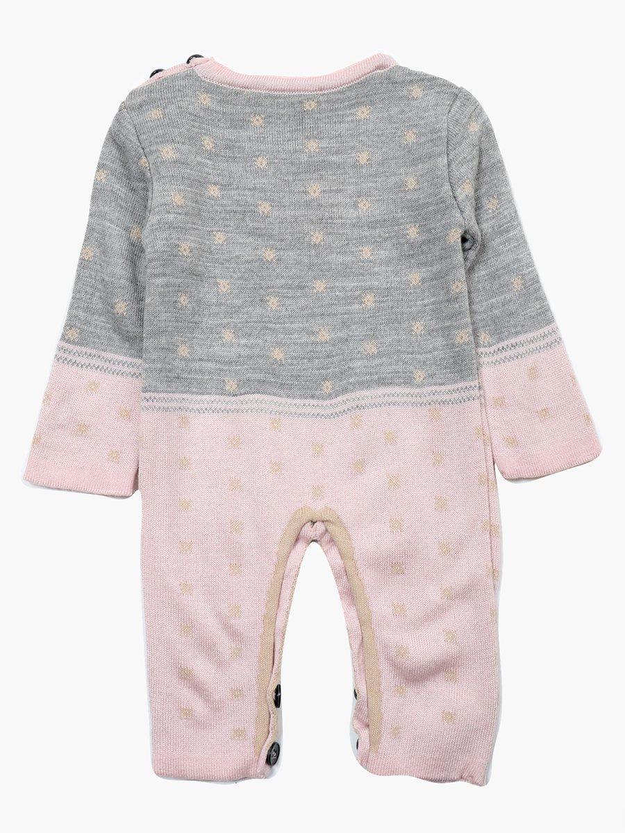 Комбинезон вязаный в комплекте с шапкой детский, цвет: светло-розовый