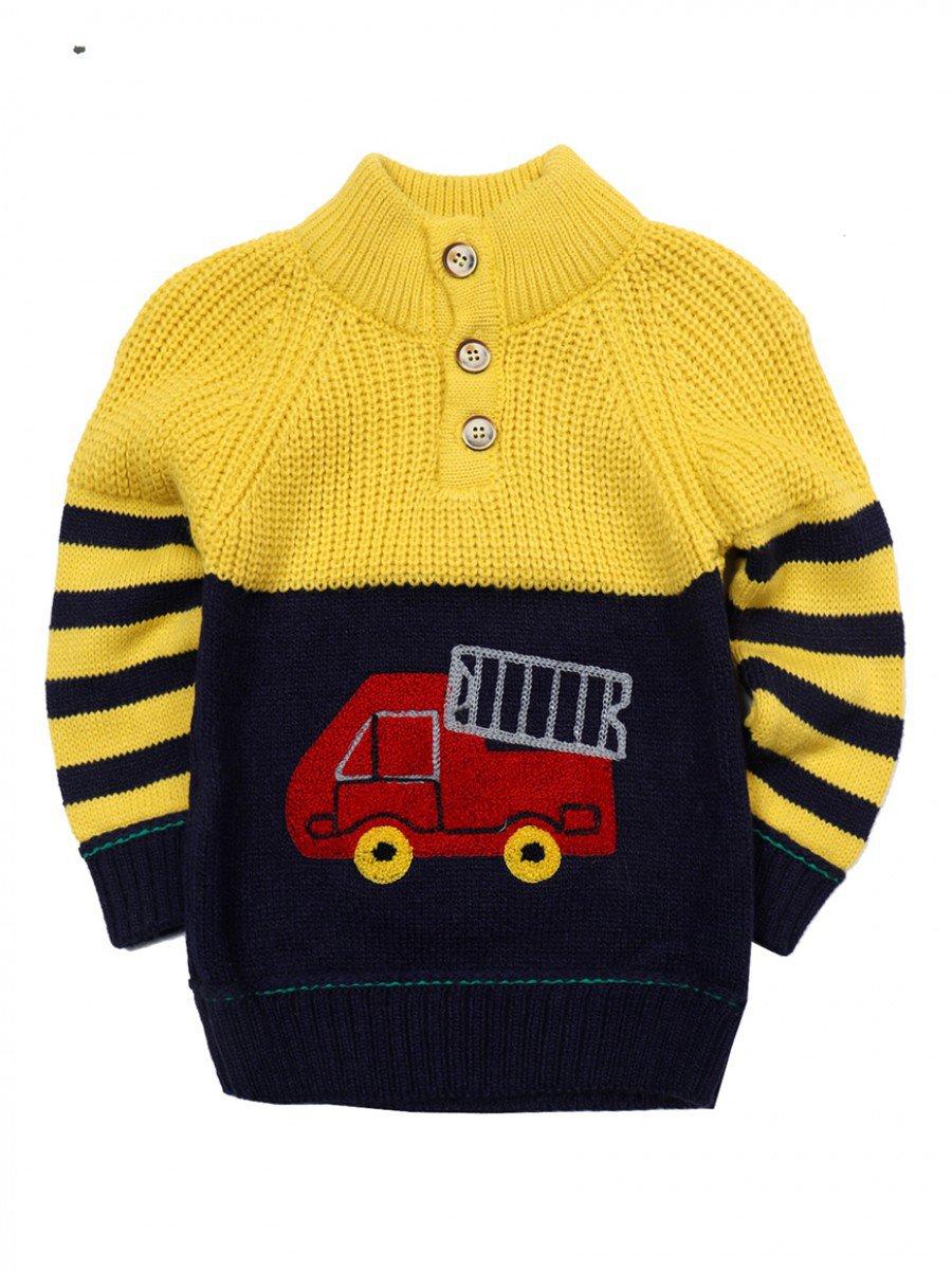 Джемпер вязаный для мальчика, цвет: желтый