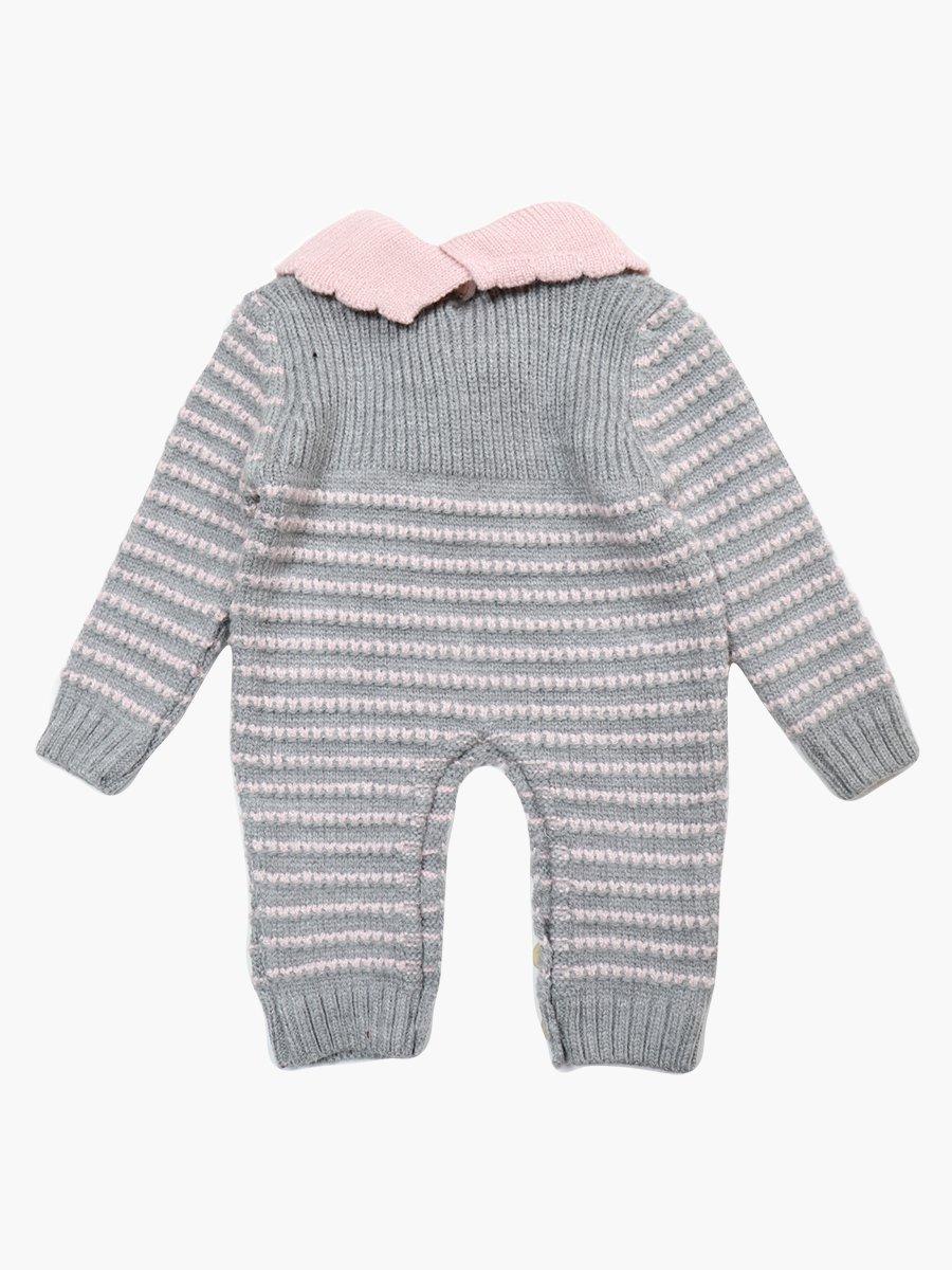 Комбинезон вязаный детский, цвет: серый
