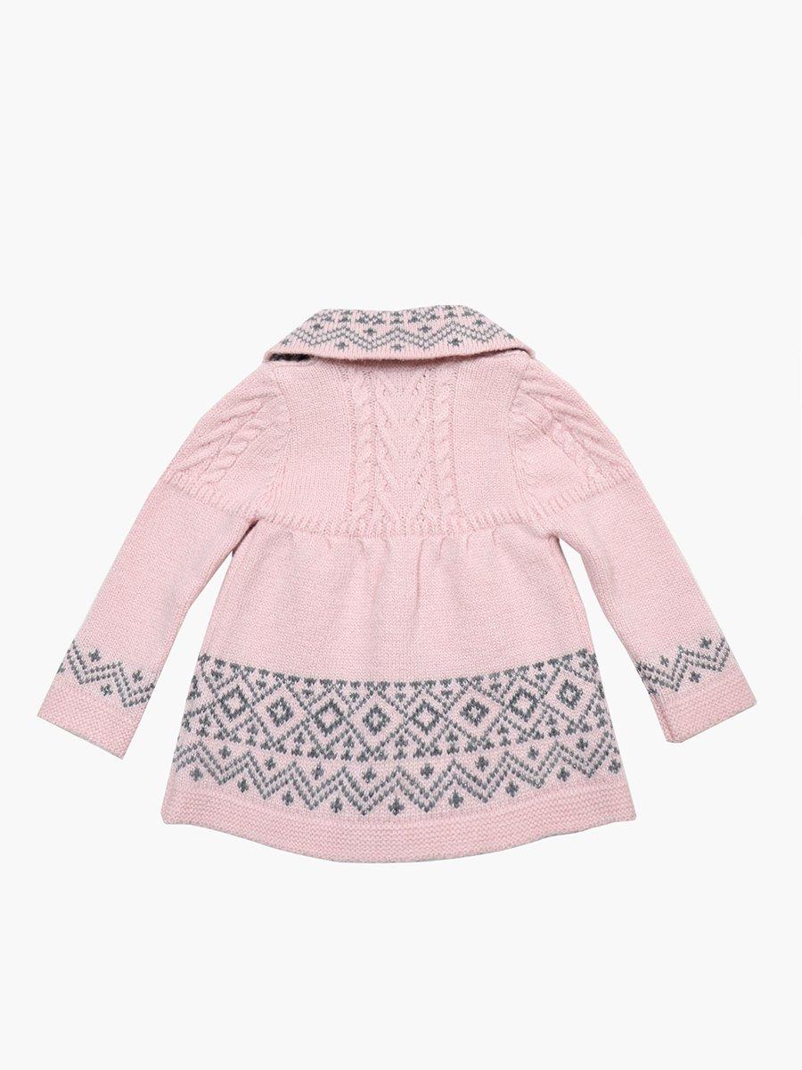 Кардиган вязаный для девочки, цвет: светло-розовый