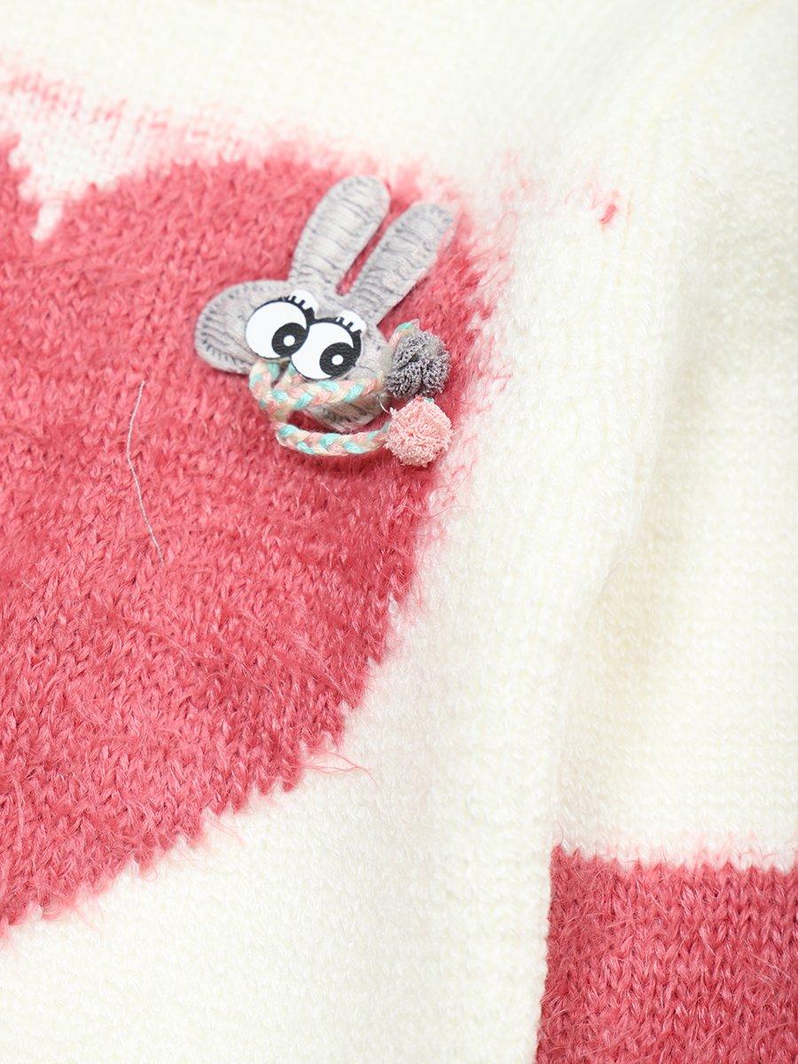 Джемпер вязаный для девочки, цвет: молочный