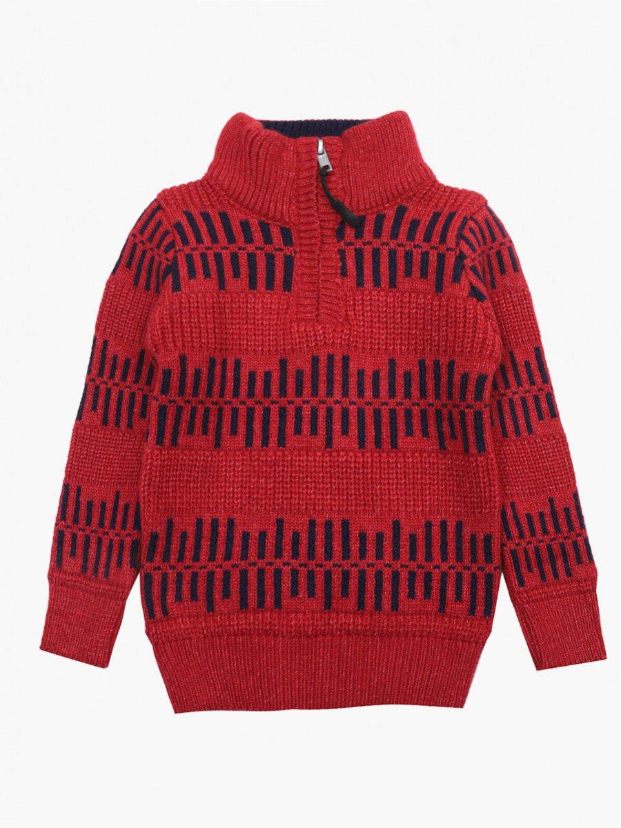 Джемпер вязаный для мальчика, цвет: бордовый