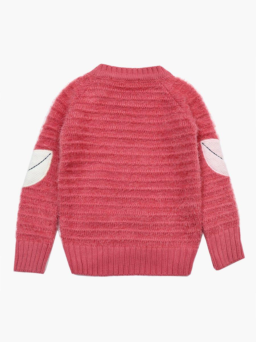 Джемпер вязаный для девочки, цвет: брусничный