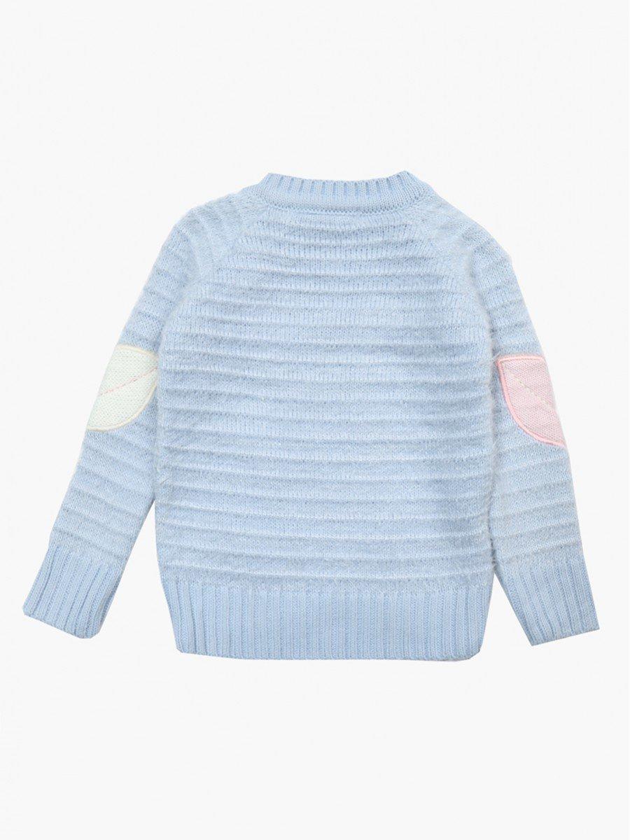 Джемпер вязаный для девочки, цвет: голубой