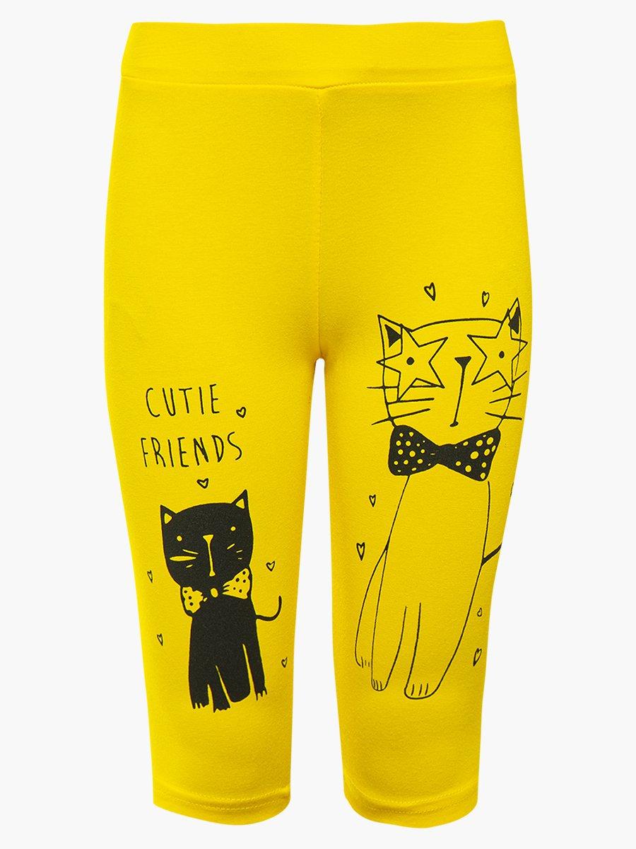 Бриджи для девочки, цвет: желтый
