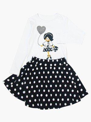 Комплект для девочки: лонгслив и юбка