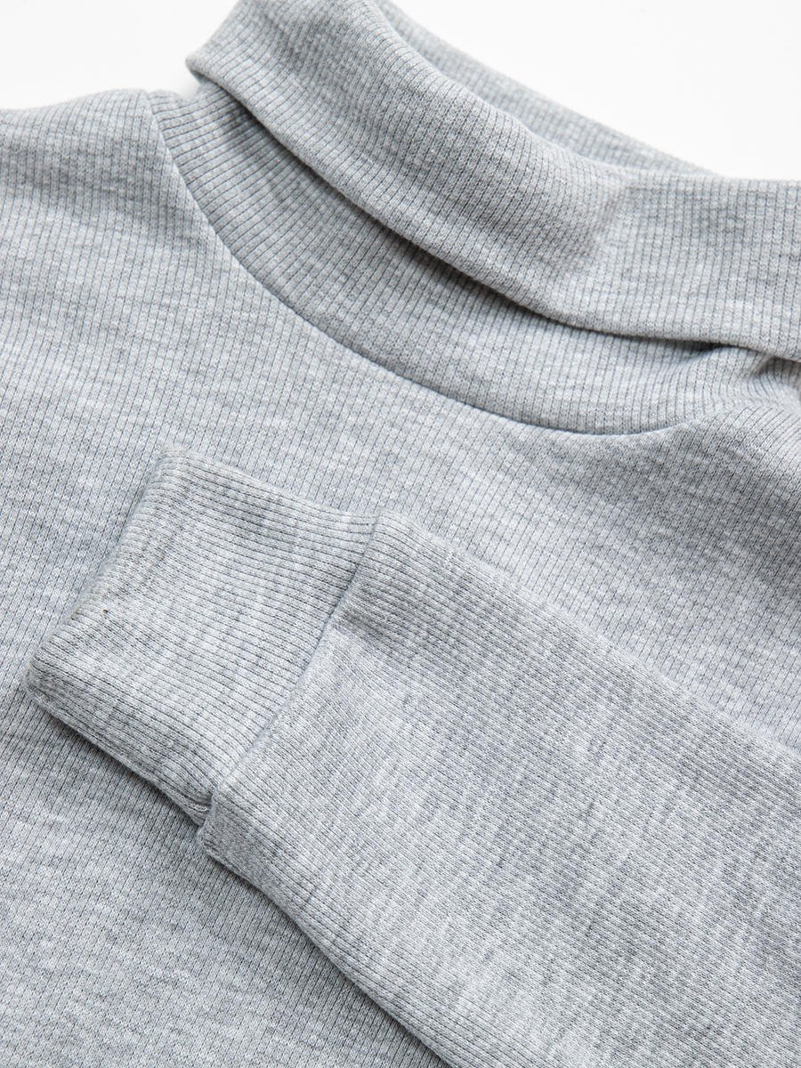 Водолазка детская, цвет: серый меланж