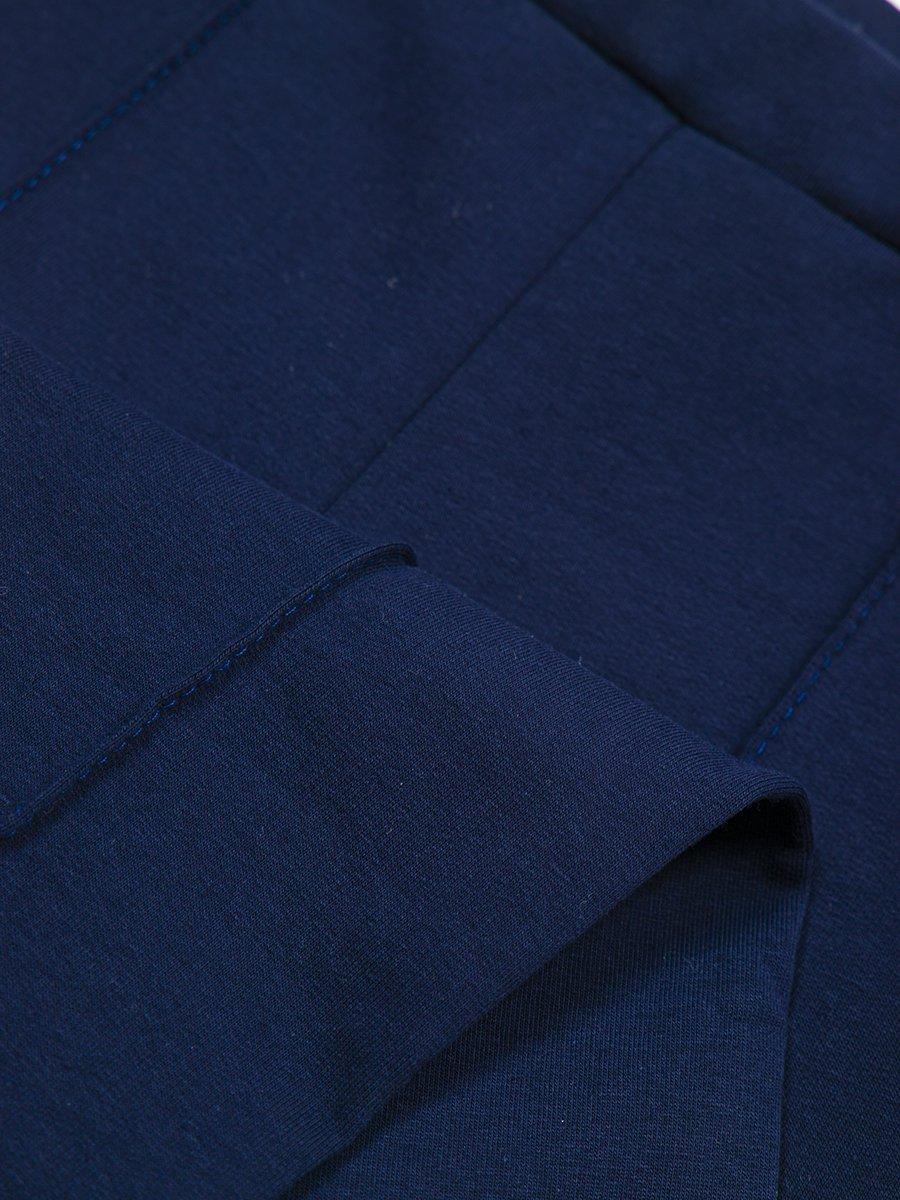 Брюки спортивные для девочки, цвет: темно-синий