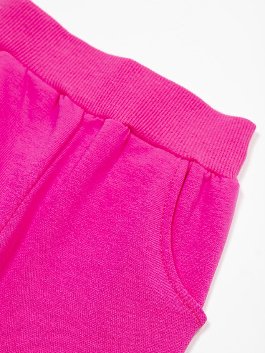 Брюки спортивные для девочки, цвет: розовый