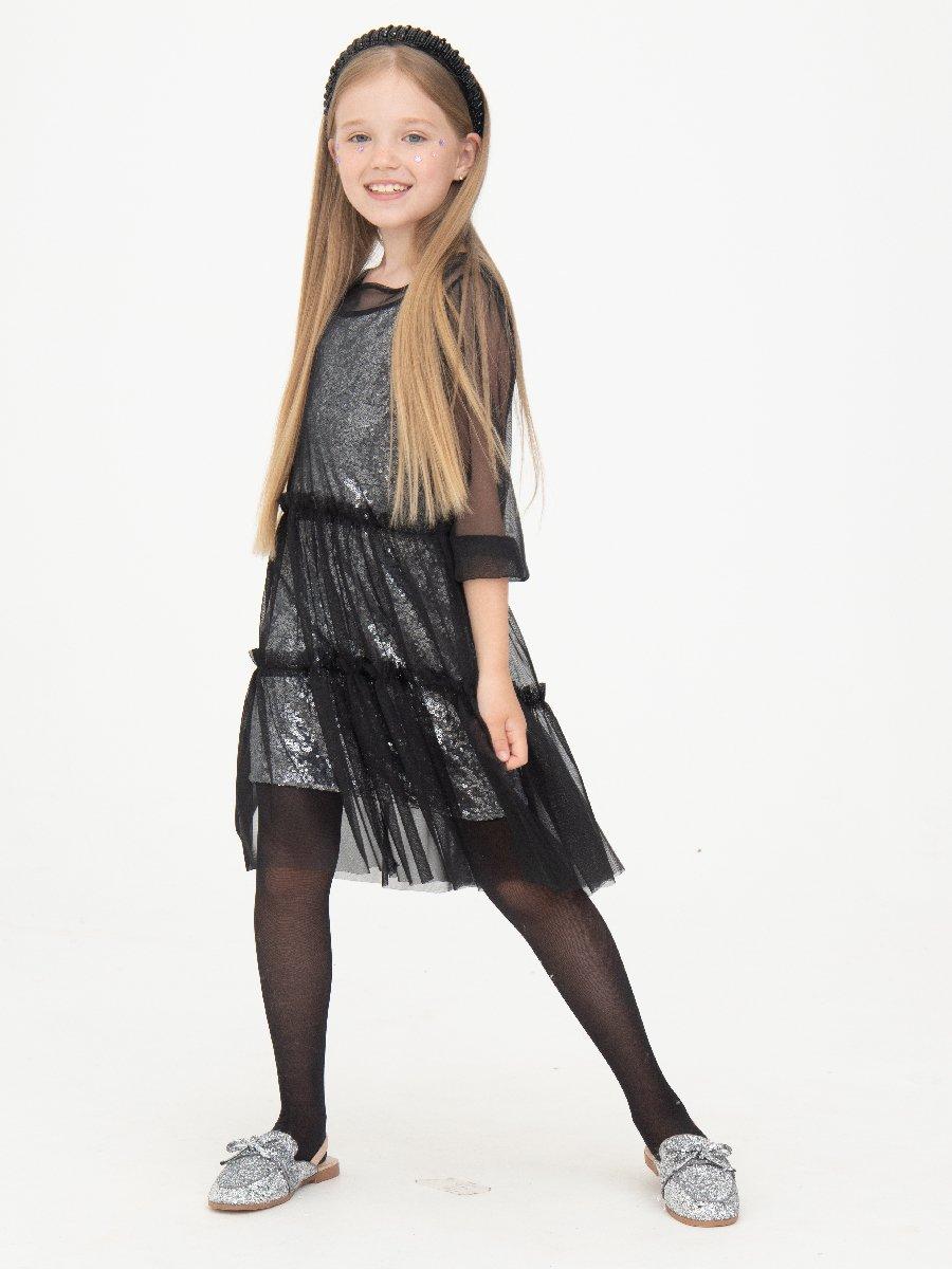 Комплект:из двух платьев, цвет: серебряный,черный