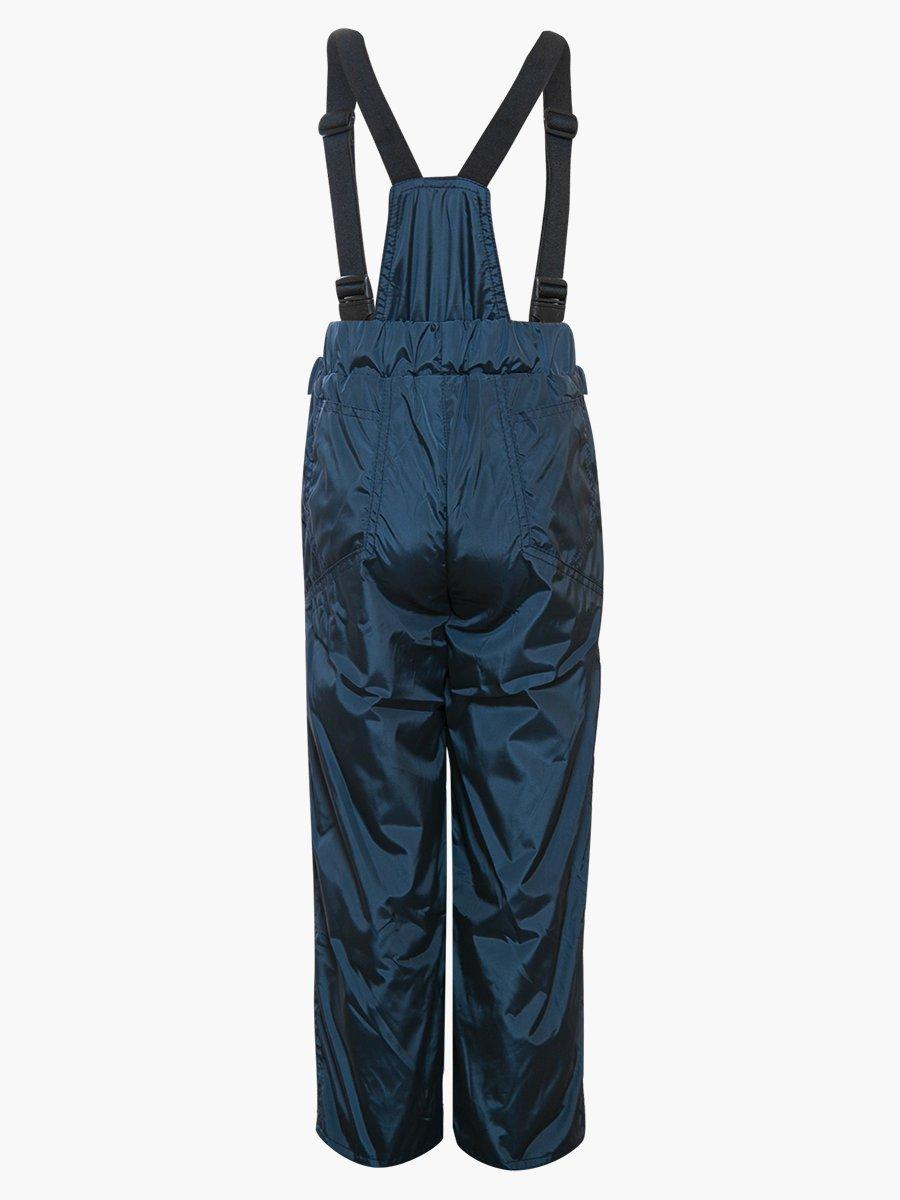 Брюки со спинкой из плащевой ткани на подкладке из флиса, цвет: синий
