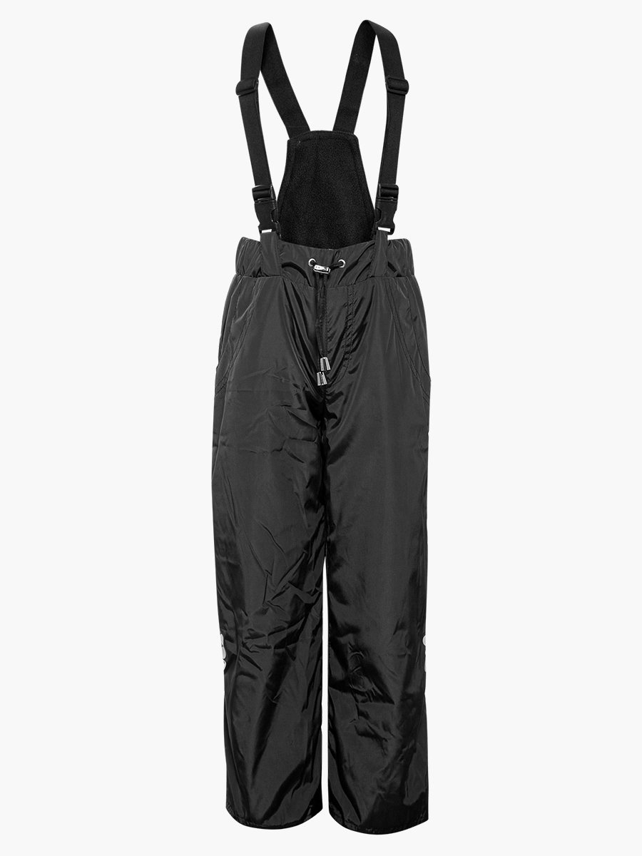 Брюки со спинкой из плащевой ткани на подкладке из флиса, цвет: черный