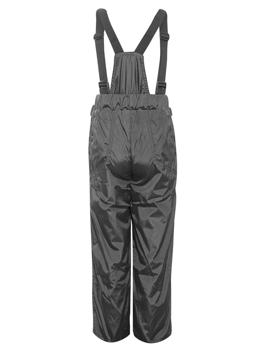 Брюки со спинкой из плащевой ткани на подкладке из флиса, цвет: серый