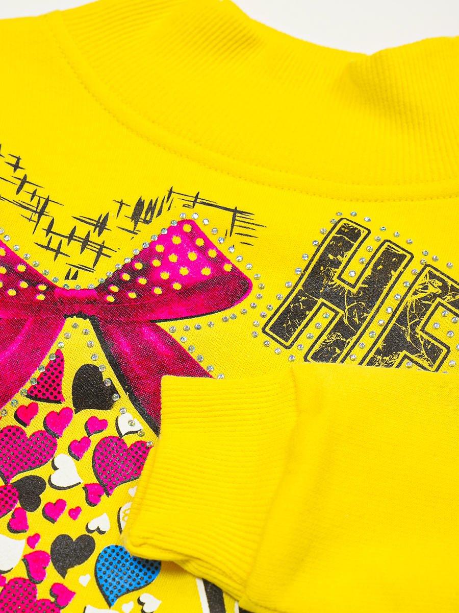 Водолазка с начесом для девочки, цвет: желтый