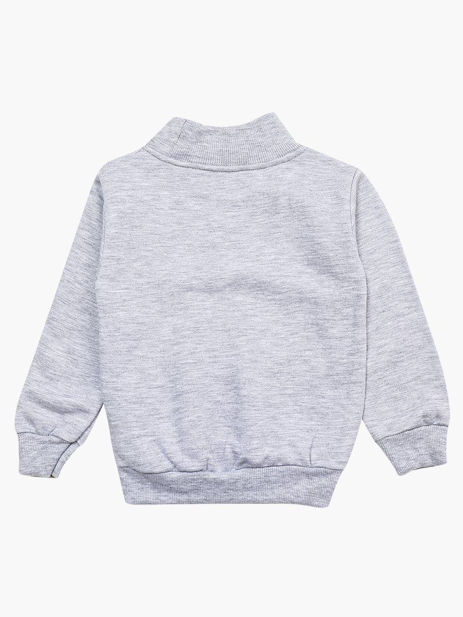 Водолазка с начесом для мальчика, цвет: серый меланж
