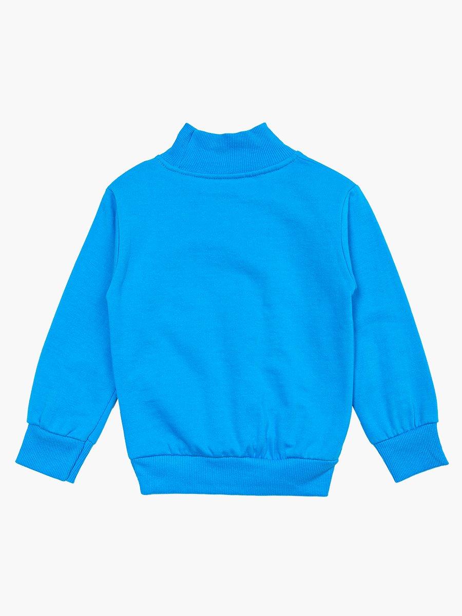 Водолазка с начесом для мальчика, цвет: синий