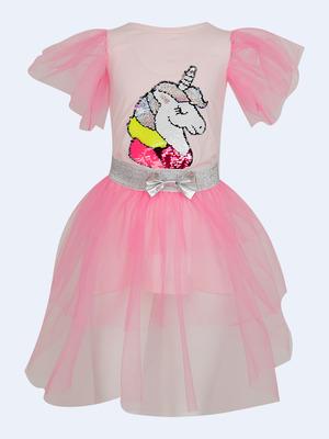 Комплект: платье А-силуэта и съемная юбка