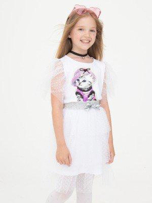 Комплект:платье А-силуэта и съемная юбка