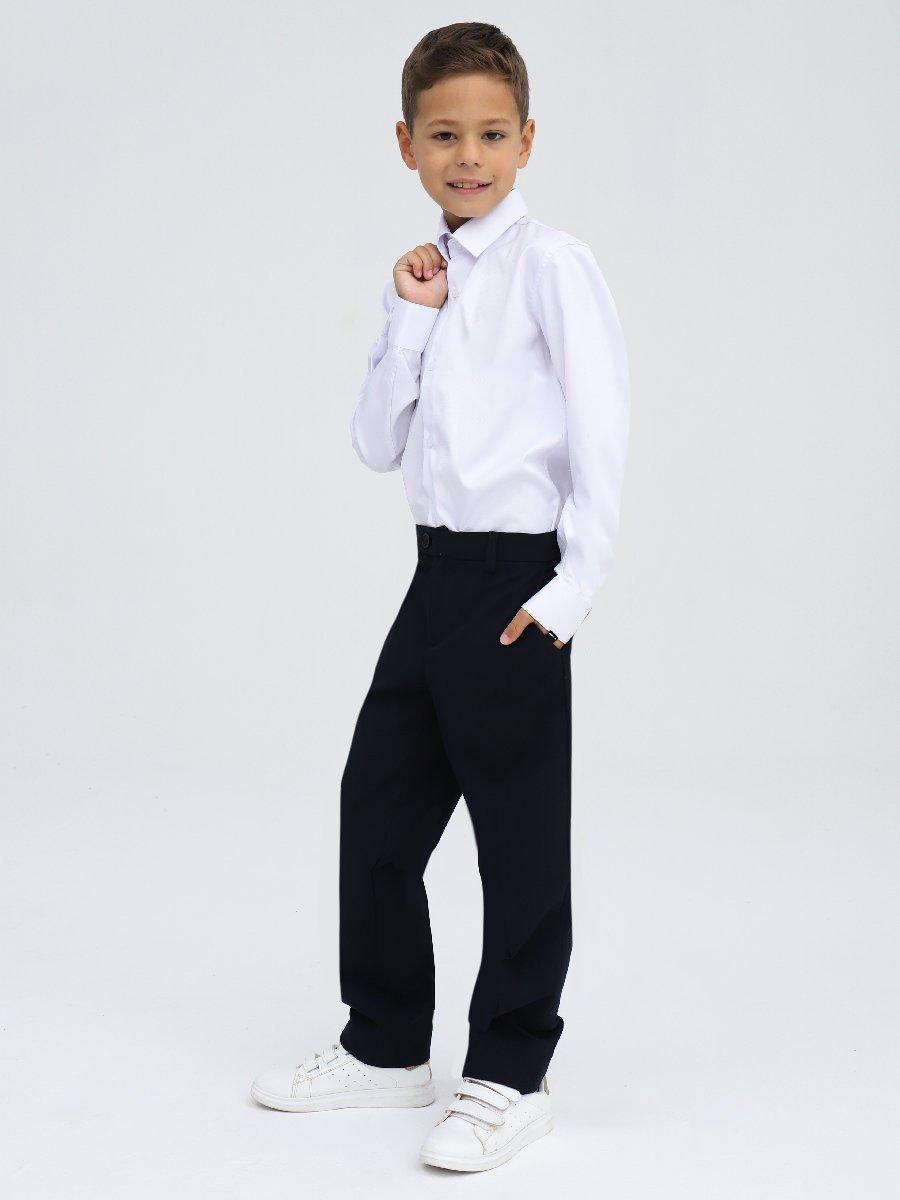 Брюки классические со средней посадкой для мальчика, цвет: черный