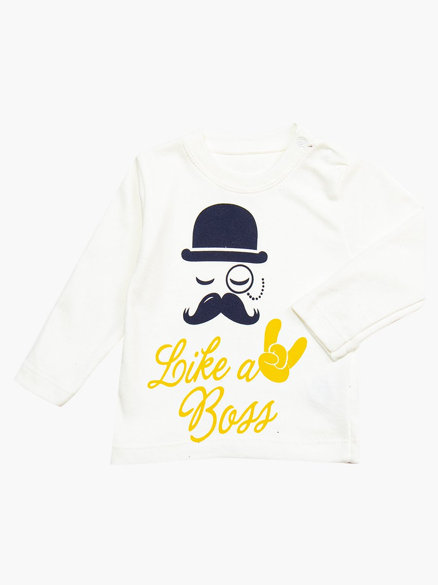 Комплект для мальчика: кофточка, штанишки и жилет утепленный, цвет: желтый