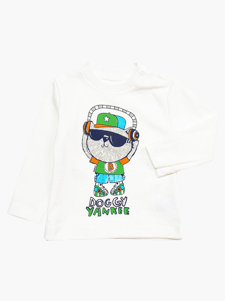 Комплект для мальчика: кофточка, штанишки и болоньевый жилет на синтепоне, цвет: зеленый