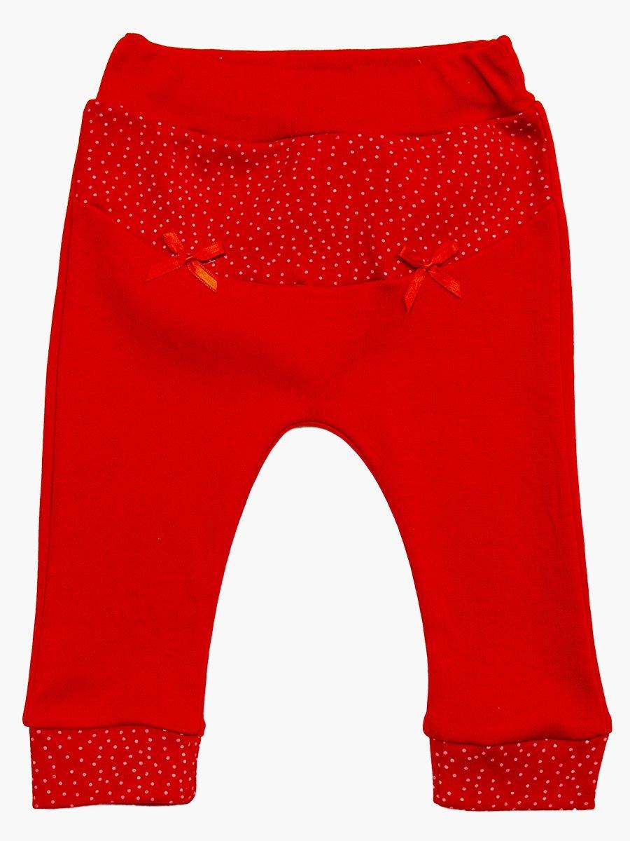 Комплект для девочки: кофточка, штанишки и жилет утепленный, цвет: красный