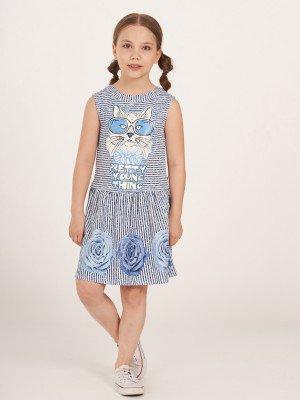Платье прямого силуэта с заниженной талией,юбка отрезная на сборке