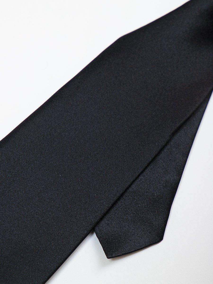 Галстук для мальчика 35см, цвет: черный