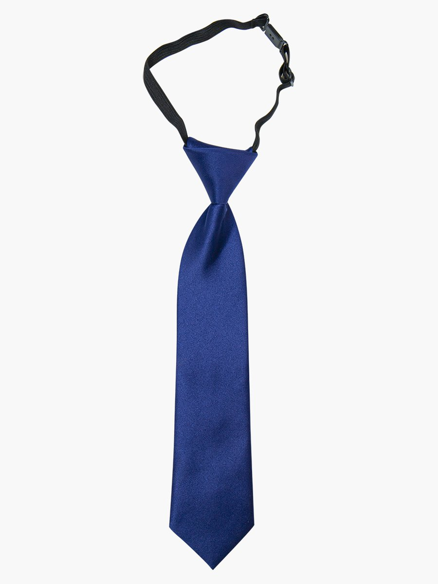 Галстук для мальчика 35см, цвет: темно-синий