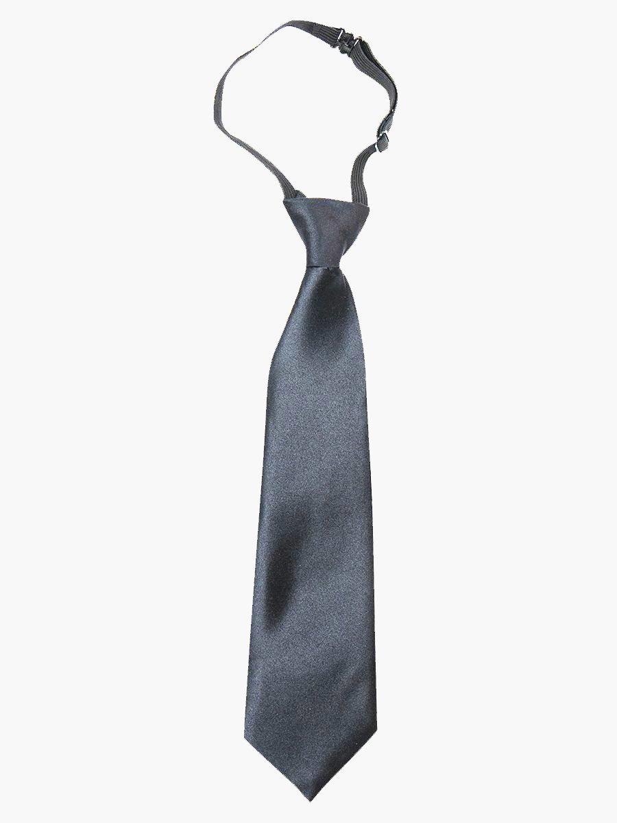 Галстук для мальчика 35см, цвет: темно-серый