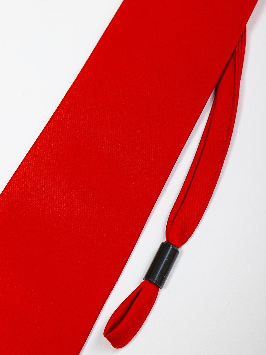 Галстук на клипсе для мальчика 35см, цвет: красный