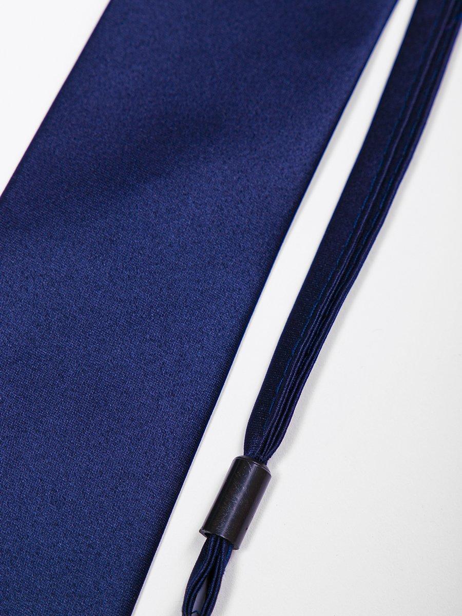 Галстук подростковый на клипсе, цвет: темно-синий