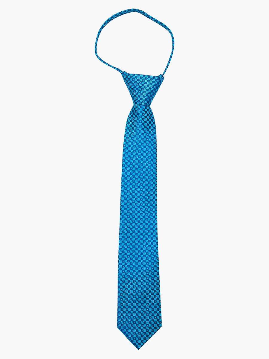 Галстук на клипсе для мальчика, цвет: бирюзовый