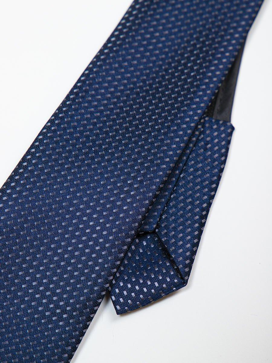 Галстук на молнии жаккард, цвет: темно-синий