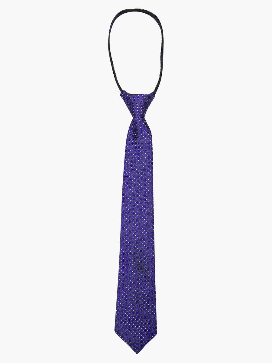 Галстук на молнии жаккард, цвет: фиолетовый
