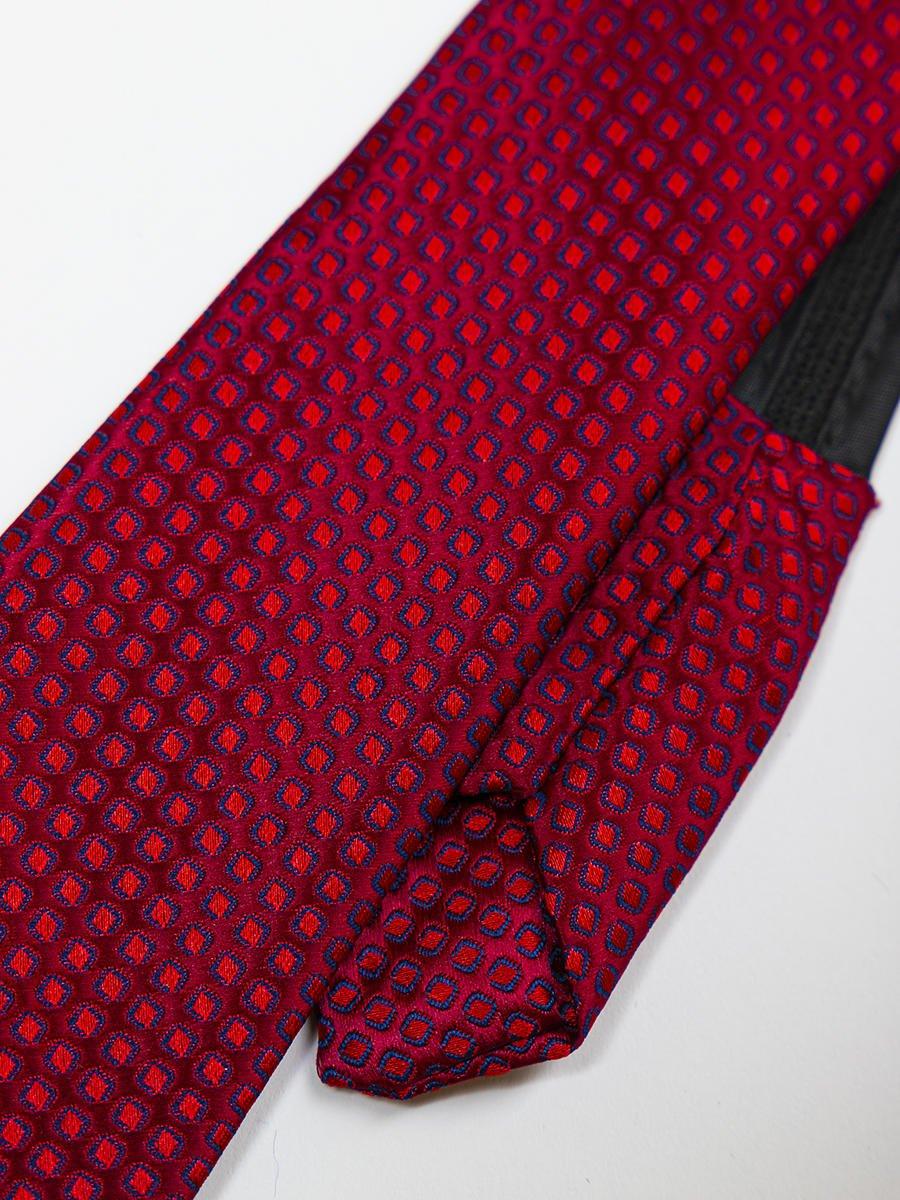 Галстук на молнии жаккард, цвет: бордовый