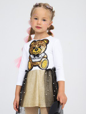 Платье приталенное с юбкой асимметричным низом