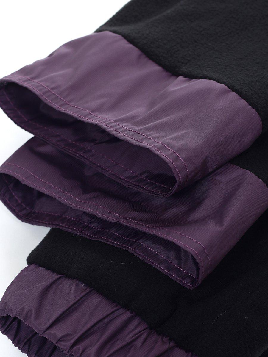 Брюки из плащевой ткани на подкладке из флиса (девочка), цвет: фиолетовый