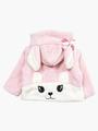 Кофточка махровая на подкладке для девочки, цвет: светло-розовый