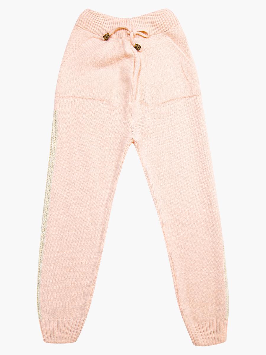 Комплект вязаный для девочки: джемпер и рейтузы, цвет: светло-розовый