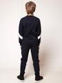 Костюм спортивный: свитшот и брюки прямые со средней посадкой, цвет: темно-синий