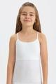 Майка для девочки, цвет: белый