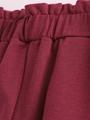 Брюки кюлоты со средней посадкой для девочки, цвет: темно-пурпурный