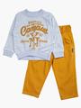 Комплект для мальчика: свитшот и брюки, цвет: горчичный