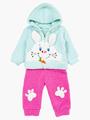Комплект махровый детский: кофточка и штанишки, цвет: мятный